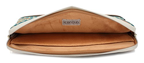 Kayond Canvas Water-Resistant 13 inch Laptop Sleeve -13 inch 13.3 inch Laptop case,12.9 inch Tablet Case Compatible MacBook(13-13.3 inches, New Bohemian) by kayond (Image #4)