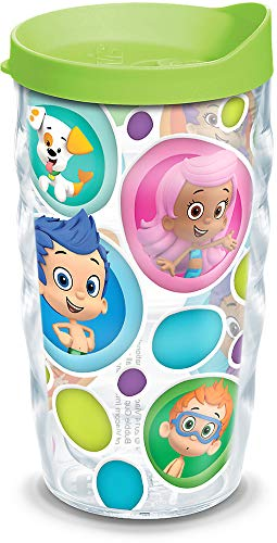 Deema Bubble Guppies (Tervis 1141955 Nickelodeon - Bubble Guppies Tumbler with Wrap and Lime Green Lid 10oz Wavy,)