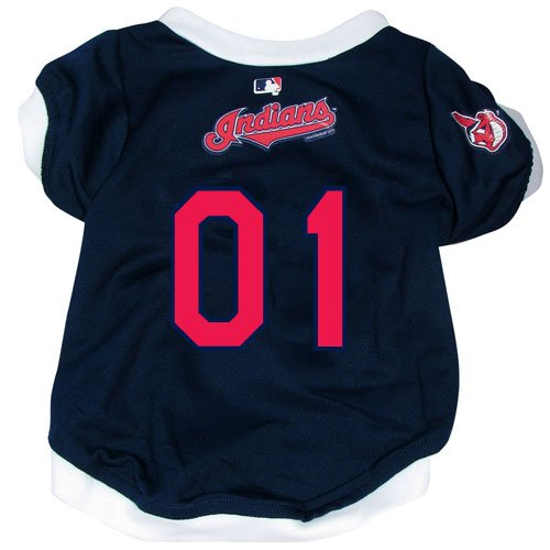 Cleveland Indians Pet Dog Baseball Jersey SMALL, My Pet Supplies