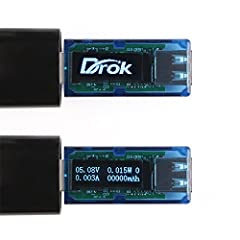 Unacceptable voltage and current output from the computer, USB wall/car charge will do great damage to your mobile device. Now here is DROK OLED Digital multimeter to help you have a better understanding of your power source, USB charger cabl...