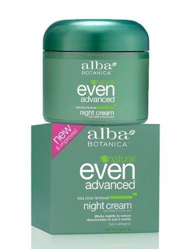 Alba Botanica Even Advanced Sea Plus Renewal Night Cream, 2-Ounce Jar