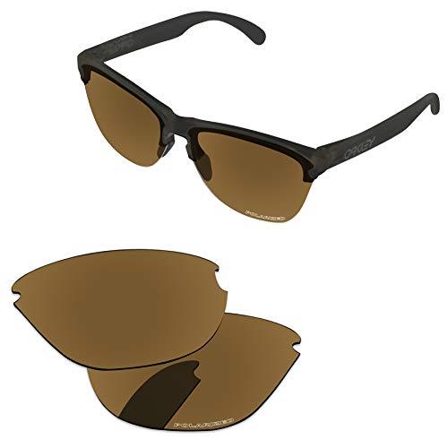 PapaViva Lenses Replacement for Oakley Frogskins Lite Bronze Golden - - Gold Lens Lite