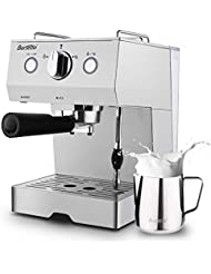 Espresso Machine 15 Bar Coffee Machine, Stainless Steel Coffee Brewer with Milk Frother Wand