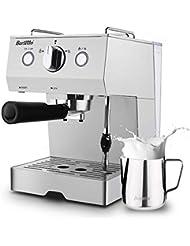 Espresso Machine 15 Bar Coffee Machine, Stainless Steel Coffee Brewer with Milk Frother Wand