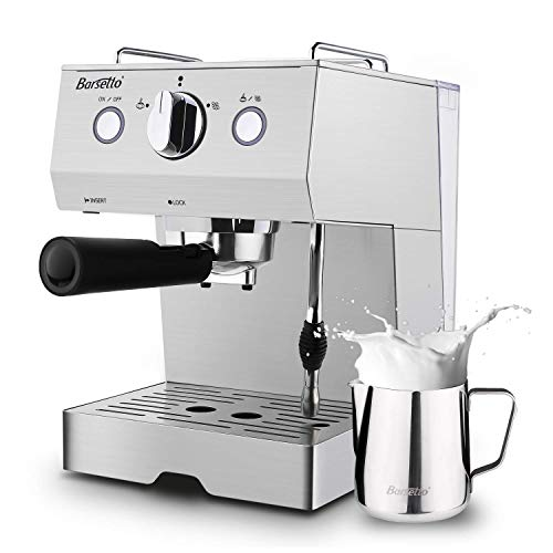 Great Features Of Espresso Machine 15 Bar Coffee Machine, Stainless Steel Coffee Brewer with Milk Fr...