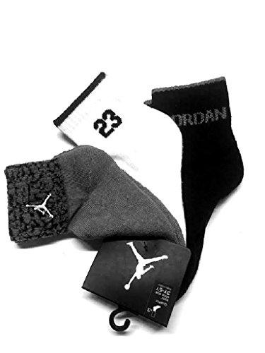 Nike Air Jordan Boys Elephant Print 23 3 Pr/P Quarter Socks