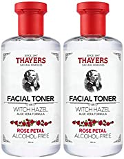 THAYERS Witch Hazel Rose Petal Face Toner, Natural, Alcohol Free with Aloe Vera, Hydrating and Refreshing for All Skin Types