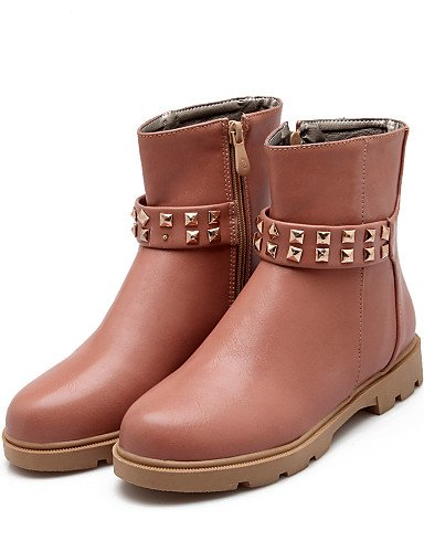 10 De 5 5 us9 Zapatos Negro Punta Cn42 Cn36 Mujer Redonda Semicuero Marfil Vestido Botines Pink Xzz Botas Uk7 8 Rosa Ivory Plataforma us6 Uk4 Eu41 Eu36 w15RSRq