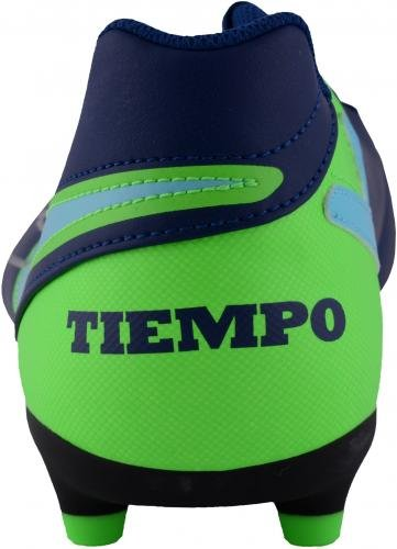 Sergio Ramos Spain Autographed Nike Tiempo Blue & Green Cleat Fanatics Authentic Certified Autographed Soccer Cleats