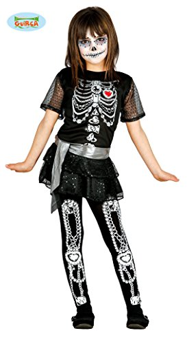 Guirca Halloween Children's Skeleton Or Day of The Dead Girls Costume -