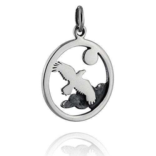 Soaring Squirrel - Soaring Bird Charm - 925 Sterling Silver - Pendant Cloud Sky Moon Hawk Eagle - Jewelry Accessories Key Chain Bracelets Crafting Bracelet Necklace Pendants