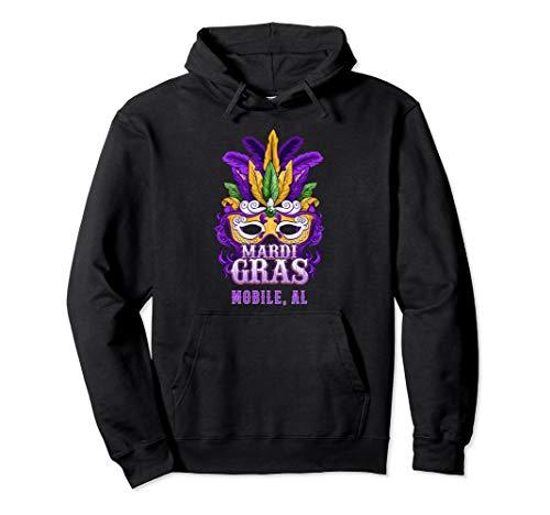 Mardi Gras Parade Mobile Alabama Hoodie Sweatshirt Mask ()