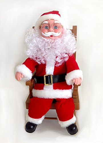 Quot santa claus animation musical figurine with rocking