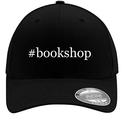 #Bookshop - Adult Men's Hashtag Flexfit Baseball Hat Cap, Black, Large/X-Large