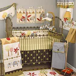 Amazon.com : Elephant Brigade 8 Piece Crib Bedding Set : Baby