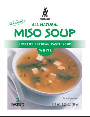 Shiro Miso Soup (Mishima Instant Soup Mix, White Miso, 1.05-Ounce Packets (Pack of 12))
