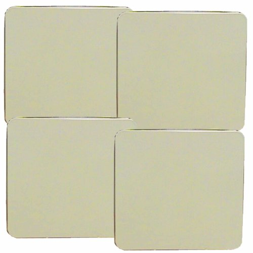 Reston Lloyd Square Gas Stove Burner Covers, Set of 4, Almond