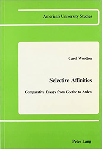 Amazoncom Selective Affinities Comparative Essays From Goethe To  Amazoncom Selective Affinities Comparative Essays From Goethe To Arden  American University Studies  Carol Wootton Books Compare And Contrast Essay High School Vs College also English Essay Outline Format  Apa Format Essay Example Paper