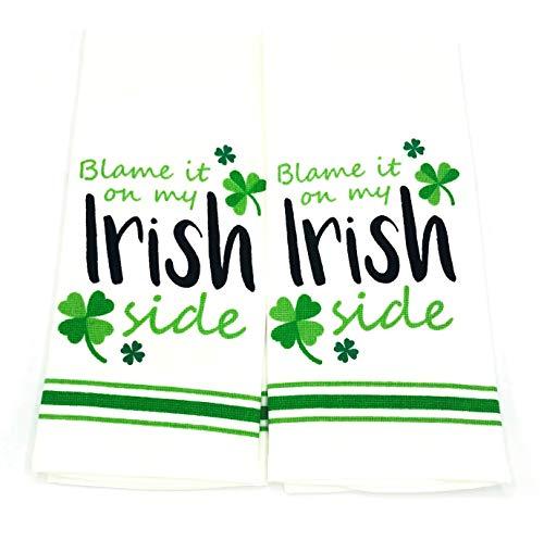 Blame It On My Irish Side Kitchen Towel