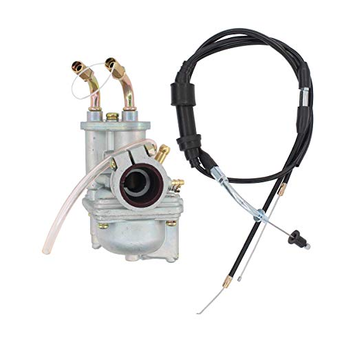 MOTOKU Carburetor Carb w/Throttle Cable for Yamaha PW50 Y-Zinger 1981-2009 Motorcycle