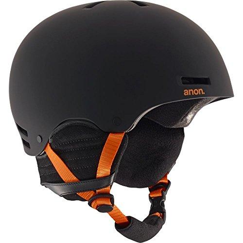 2012 Burton Mens Snowboard (Anon Men's Raider Helmet, Black/Orange, X-Large)