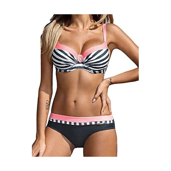 heekpek Costumi da Bagno Donna Costumi Donna Mare Due Pezzi Bikini Push Up Swimsuits Beachwear