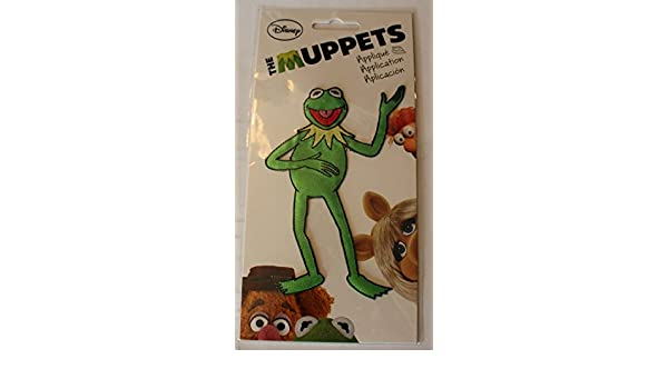 """4/"""" Muppets kermit the frog christmas fabric applique iron on character"""