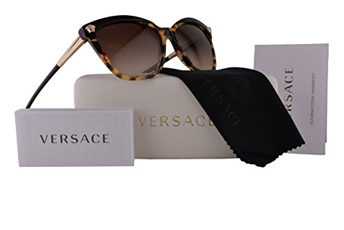 9d35d4829b Versace VE4313 Sunglasses Black Havana w Brown Gradient Lens 517713 VE 4313  For Women