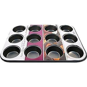 Keraiz Moule à 12 muffins en acier, multicolore, 35x 26x 3cm