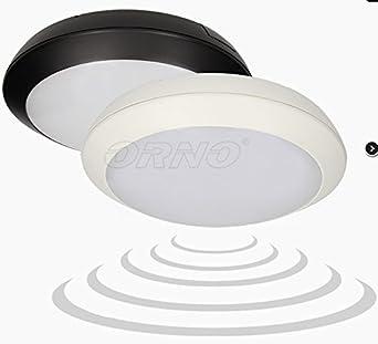 15 W - Lámpara de techo LED con detector de movimiento negro Radar Sensor Microondas para piso baño: Amazon.es: Iluminación