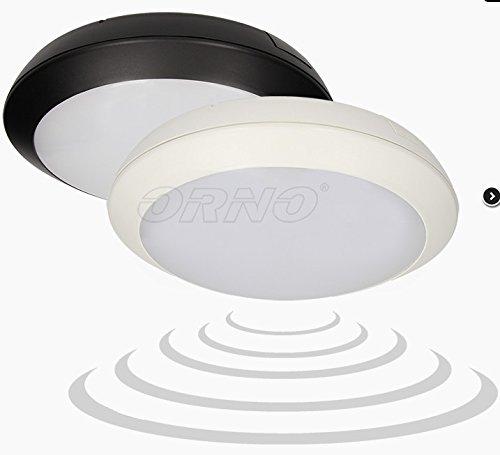 15 W - Lámpara de techo LED con detector de movimiento negro Radar ...
