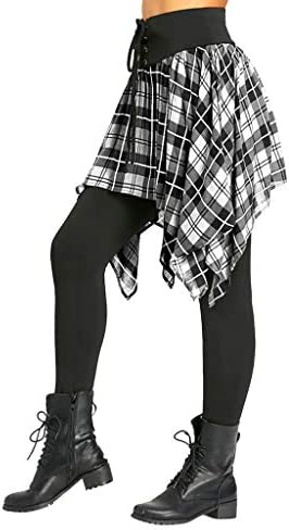 Damen Lauf Skort Laufhose Hockey Rock Engen Capris Gym Yoga Pants M/ädchen Tennis Eishockey Laufen Trainning Workout 2 in1 Sport Leggings mit Rock Caprihose Sporttanz Sportkombi Minirock mit Leggins