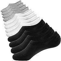 Closemate Mens & Women No Show Socks Low Cut Non Slip Cotton Invisible Casual Socks 3-6 Pairs