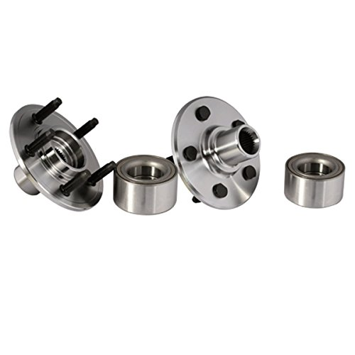 Callahan C521000X2 [2] Pair REAR Premium Grade [ 5 Lug ] Wheel Hub Bearing Assemblies [ 521000 ] (Bearings Wheel Premium Rear)