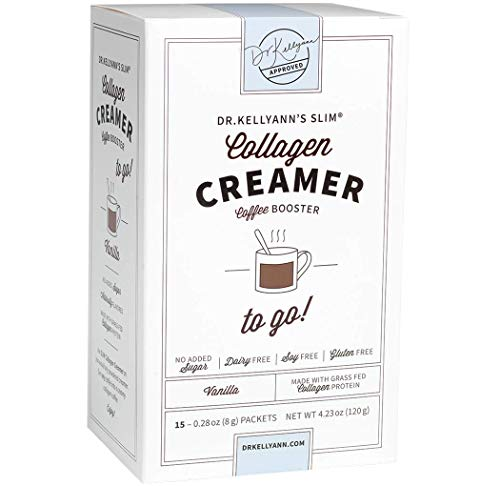 Keto Coffee Creamer Vanilla with Coconut Oil & 100% Grass-fed Collagen Powder - Dairy Free, Sugar Free, Gluten-Free, Soy Free, Low Carb - Perfect for Keto, Paleo, Weight Loss Diets ()