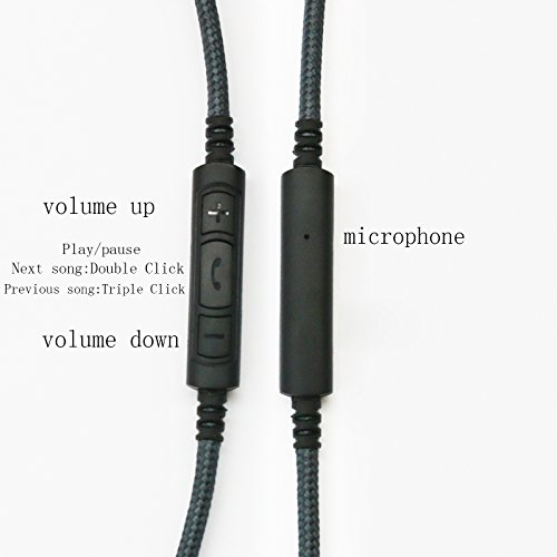 NewFantasia 3.5mm - 2.5mm Male Replacement Cable Compatible with Bose oe2, oe2i, AE2, QC35 Headphones, Remote Volume Control & Mic Cord Compatible with Samsung Galaxy Sony Xiaomi Huawei Android Phone by NewFantasia (Image #5)