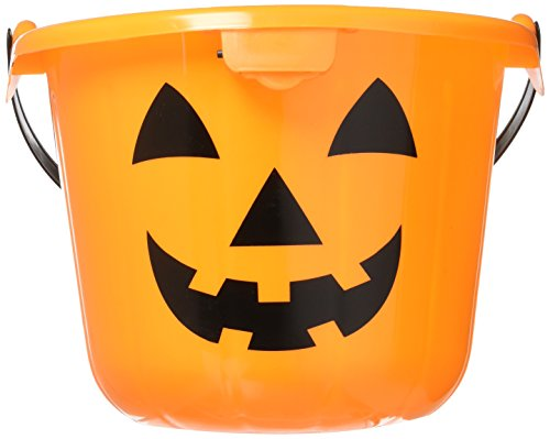 - Light Up Halloween Orange Pumpkin Jack O Lantern Trick Or Treat Bucket (1)