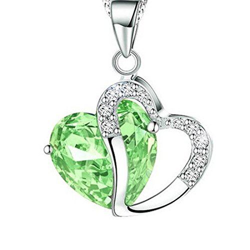 Crystal Open Heart Charm - 2