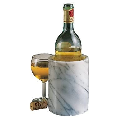 ComeAlong Industries Tabletop Marble Wine Cooler, White