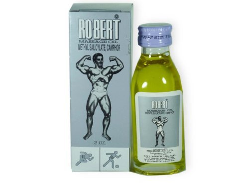 3 Packs of Ro-bert Massage Oil. Methyl Salicylate, Camphor. Relief Pain and Stiffness in Muscles After Exercise or Working. (2 Oz./ Pack)
