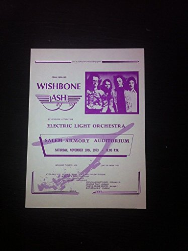 Wishbone Ash Electric Light Orchestra 1973 Salem Armory Concert Poster Handbill