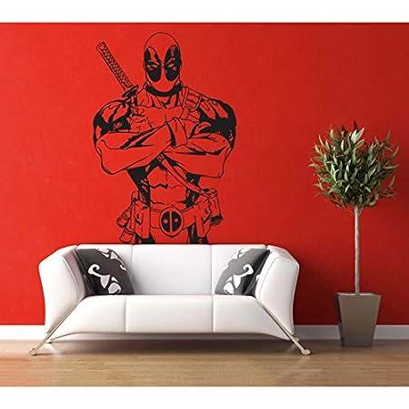 ZGQQQ Vinilo Arte Diseño Mural Pegatinas De Pared Patrón De Marvel ...