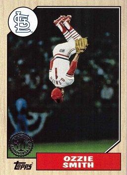 2017 Topps 1987 Topps #87-11 Ozzie Smith Baseball Card - Back ()