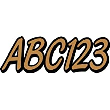 """STIFFIE Whipline Solid Copper/Black 3"""" Alpha-Numeric Registration Identification Numbers Stickers Decals for Boats & Personal Watercraft"""
