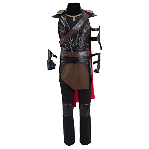 Halloween Superhero Costume Hot Movie Cosplay Party Show PU Full Set for Men (Large, Full Set)