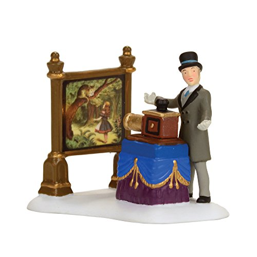 Dickens Village Collectibles - Department 56 Dickens Village The Amazing Magic Lantern Show Accessory Figurine, Multicolor (4056640)