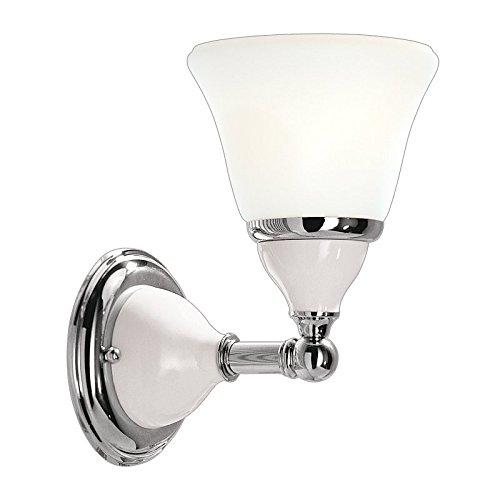 Hudson Valley Lighting Porcelain 1-Light Vanity Light - Polished Nickel Finish with Opal Matte Glass Shade