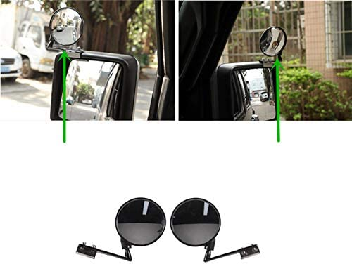 FMtoppeak Exterior Accessories Car Rearview Mirror Adjust Blind Spot Mirror for Jeep Wrangler JL 2018 UP