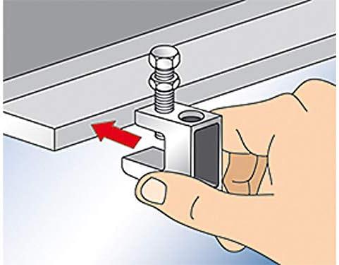 Fischer 64055 Tr/ägerklammer TKL L M8 Spannbereich 0-18mm VPE 1 St/ück
