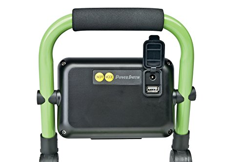 PWLR1110F 10W 900 Lumen Cordless Foldable Portable Metal Stand, Lithium Ion Battery LED Work Light for Camping, RV, Marine, Boating, with USB Port for Mobile Device Charging by PowerSmith (Image #3)